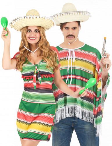 Disfraz de pareja de mejicanos