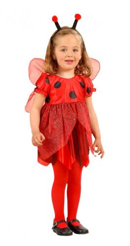 Disfraz de mariquita para niña brillantinas