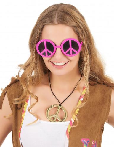 Gafas hippies rosas para adulto-1