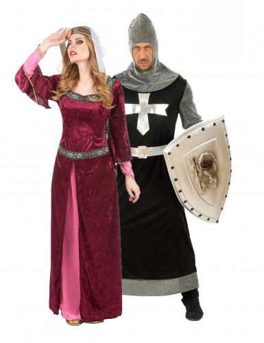 Disfraz de pareja de rey y reina medievales
