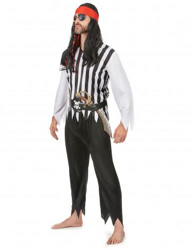 Disfraz de pareja de piratas calaveras-1