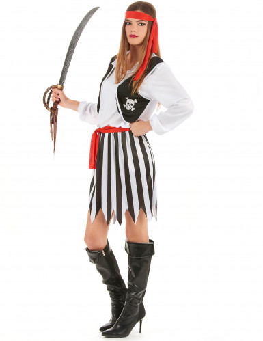 Disfraz de pareja de piratas calaveras-2