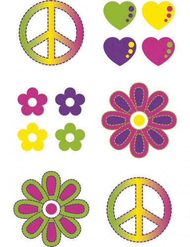 Lote de calcomanías hippies-1