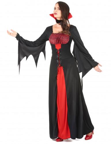 Disfraz de vampiresa para mujer, ideal para Halloween-1