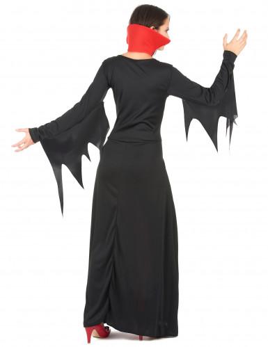 Disfraz de vampiresa para mujer, ideal para Halloween-2