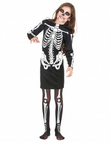 Disfraz de esqueleto para niña, ideal para Halloween