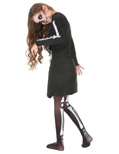 Disfraz de esqueleto para niña, ideal para Halloween-2