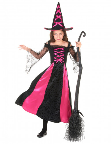 Disfraz de bruja para niña rosa corset