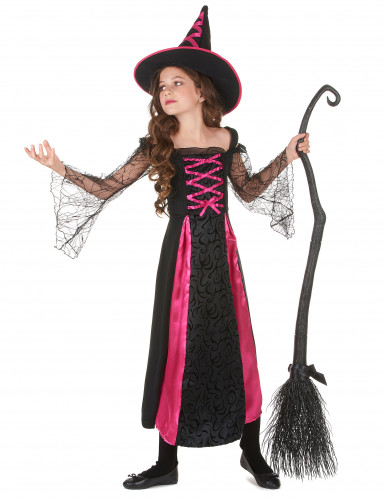 Disfraz de bruja para niña rosa corset-1
