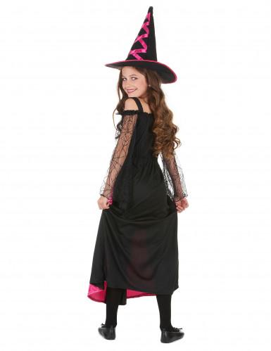 Disfraz de bruja para niña rosa corset-2