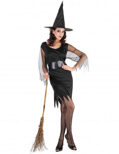 Disfraz de bruja para mujer manga transparente