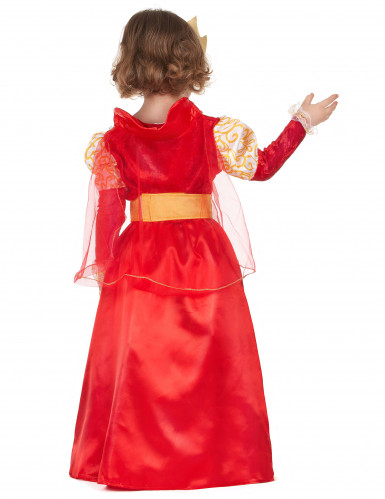 Disfraz de reina para niña rojo y dorado-2