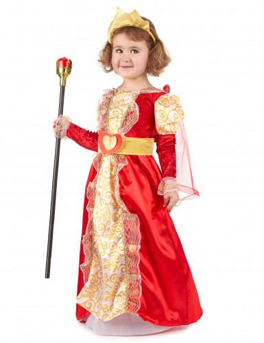 Disfraz de reina para niña rojo y dorado-1