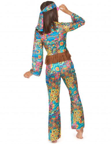 Disfraz de hippie colorido para mujer-1