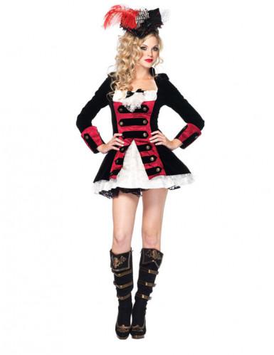 Disfraz de capitán pirata sexy para mujer