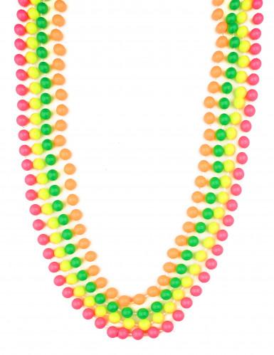 Collar de perlas fluorescentes