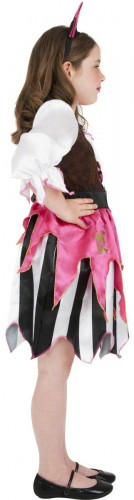 Disfraz de pirata rosa para niña-1