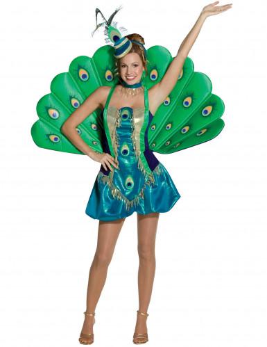 Disfraz pavo real para mujer