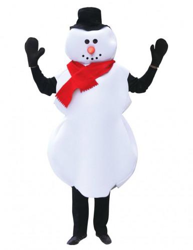 Disfraz muñeco de nieve para adulto