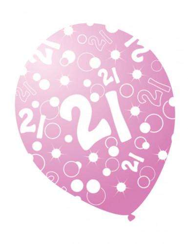 Globos edades nacarados rosa