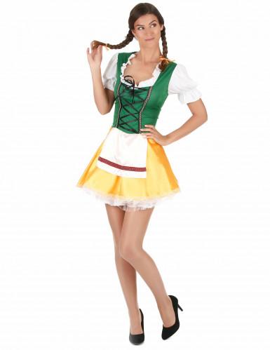 Disfraz de bávara amarilloy verde mujer-2