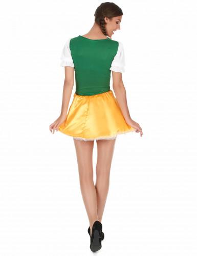 Disfraz de bávara amarilloy verde mujer-1