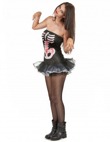 Disfraz esqueleto sexy adulto mujer Halloween-1