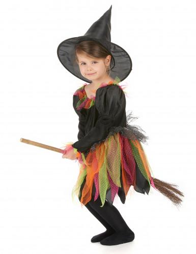 Disfraz de bruja multicolor para niña-1