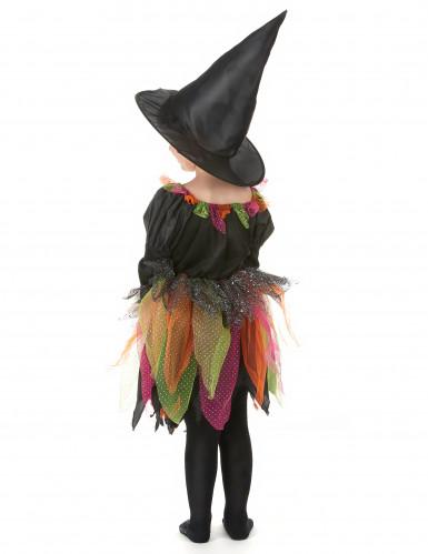 Disfraz de bruja multicolor para niña-2