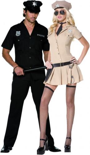 Disfraz pareja de policías