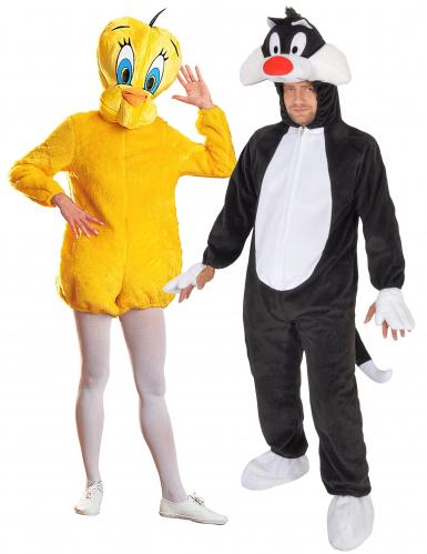 Disfraz pareja Piolin y Sylvestre Loony Tunes™