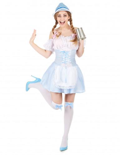 Disfraz de niña de los Alpes para mujer azul