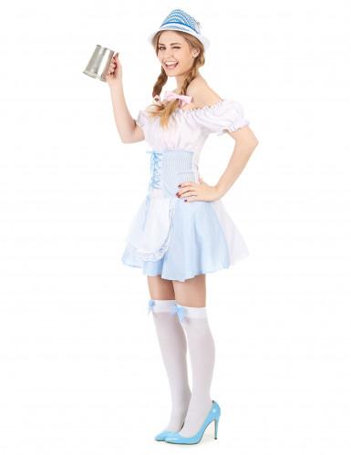 Disfraz de niña de los Alpes para mujer azul-1