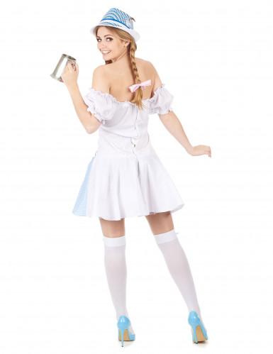 Disfraz de niña de los Alpes para mujer azul-2