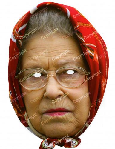 Careta Reina Elizabeth con pañuelo