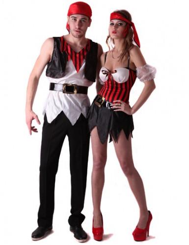 Disfraz de pareja de piratas sexys