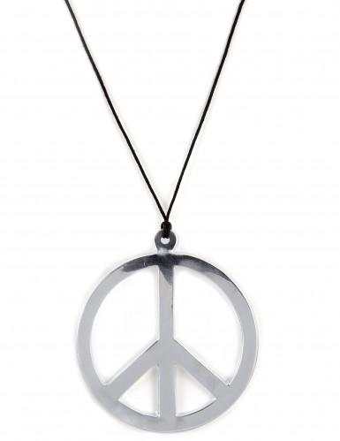 Collar de hippie plateado