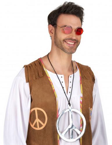 Collar de hippie plateado-1