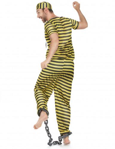 Disfraz de prisionero amarillo para hombre-2