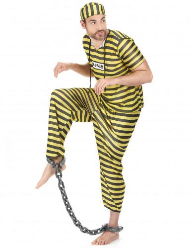 Disfraz de prisionero amarillo para hombre-1