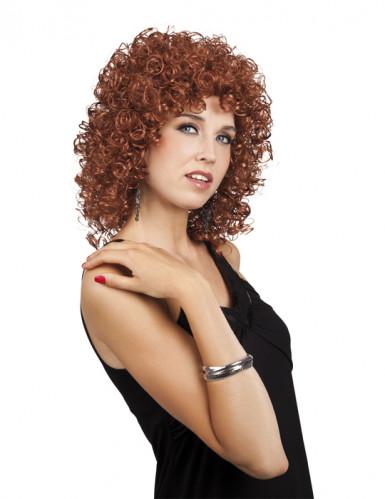 Peluca rizada marrón para mujer
