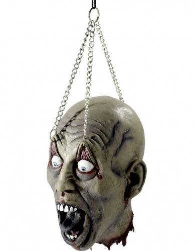 Decoración cabeza colgada Halloween
