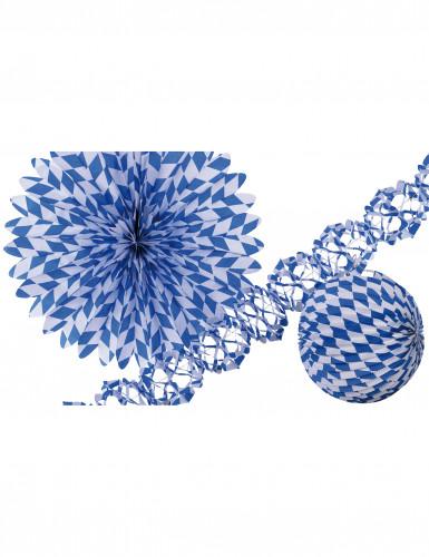 Set de decoración azul y blanco