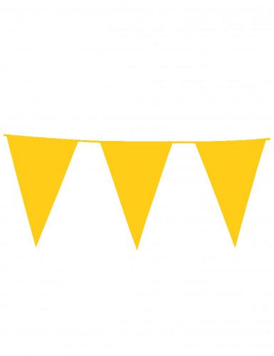 Guirnalda de banderines de color amarillo