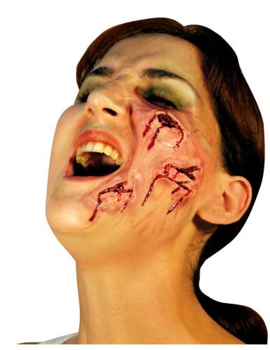 Herida falsa para la cara ideal Halloween