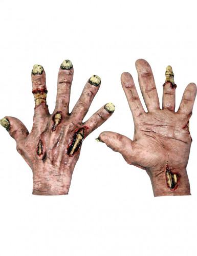 Guantes de zombi adulto Halloween