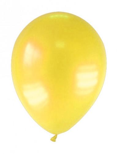 12 globos de color amarillo metalizado