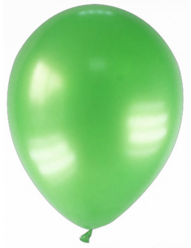 12 globos de color verde metalizado