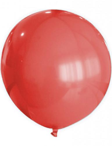 Globo gigante de color rojo
