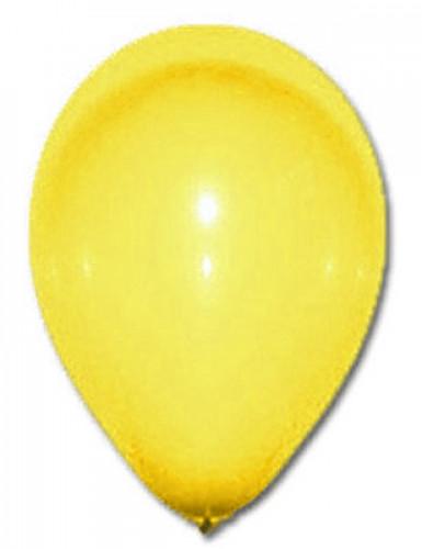 100 globos de color amarillo 27 cm
